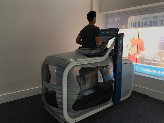 running on alter g anti gravity treadmill