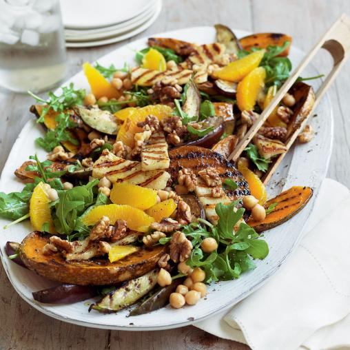 chargrilled-pumpkin-and-haloumi-salad-with-chickpeas